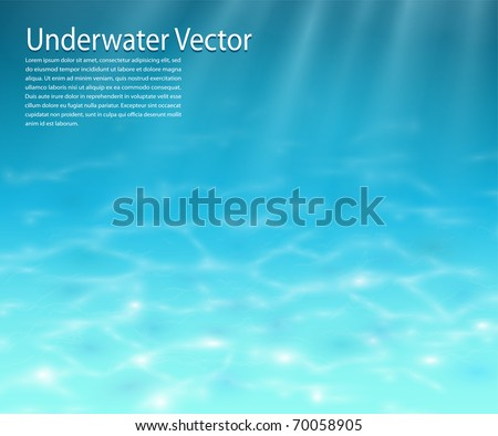 Underwater background, realistic vector illustration. - stock vector