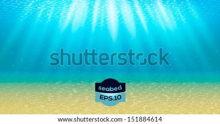 underwater background with sun