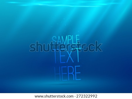 underwater background with sun