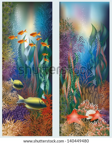 underwater banners with