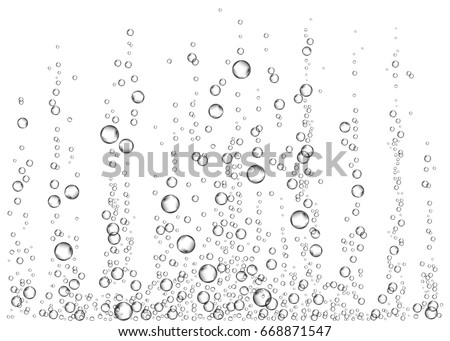 underwater fizzing air bubbles