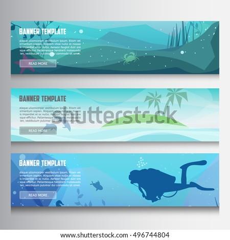 underwater horizontal banners