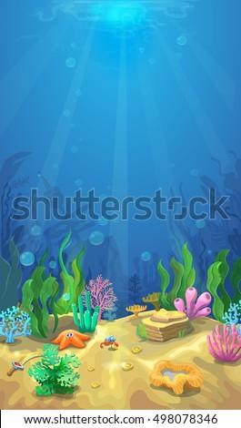 underwater landscape the ocean