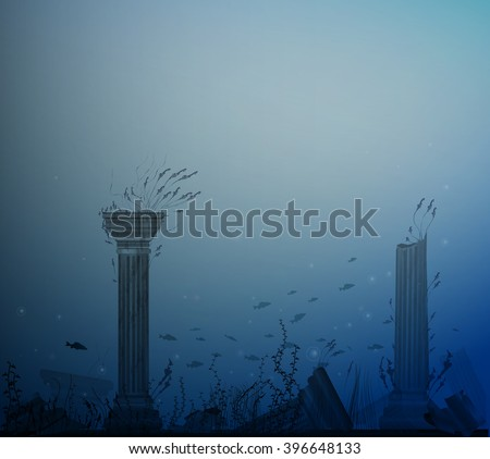 underwater landscape with