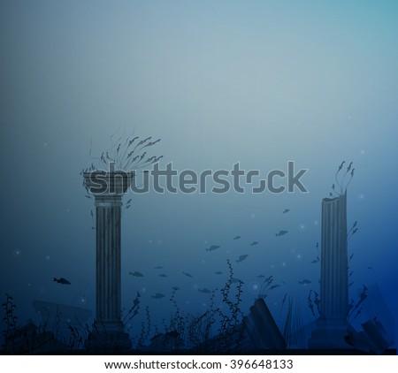 underwater landscape with
