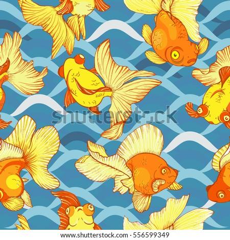 underwater life  goldfish