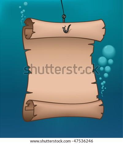 Underwater Map - vector illustration