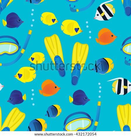 underwater seamless pattern on