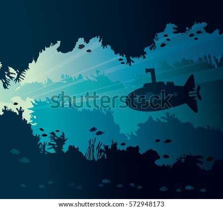 underwater seascape with
