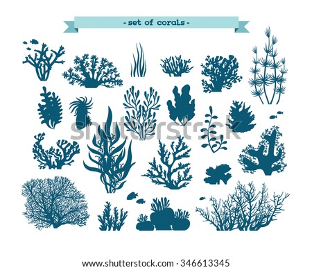 underwater set   silhouette of