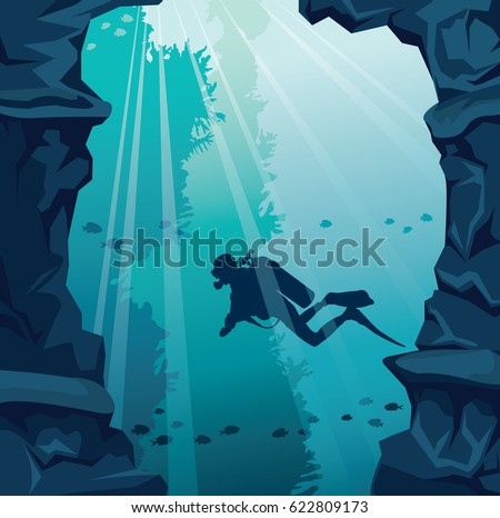 underwater vector illustration