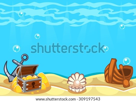 underwater vector world