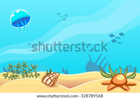 underwater vector world