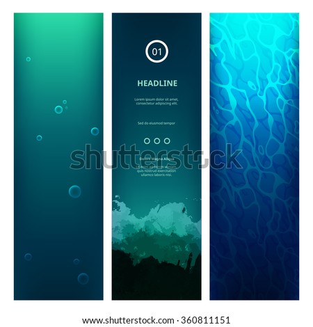 underwater view blue background