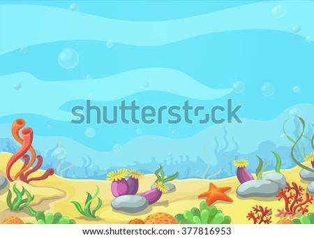 underwater world blue sea