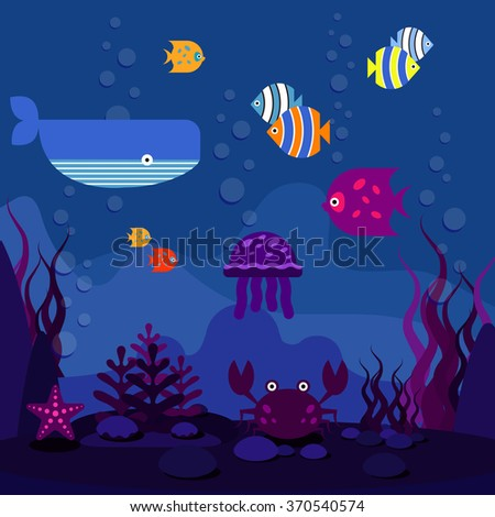 underwater world ocean or sea