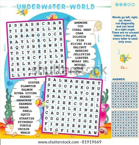 underwater world zigzag word
