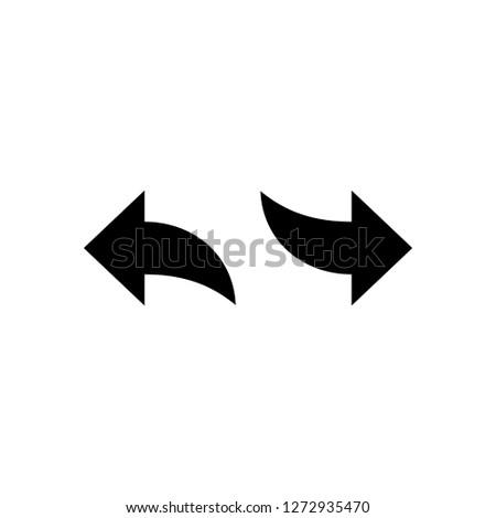 undo redo arrow icon vector