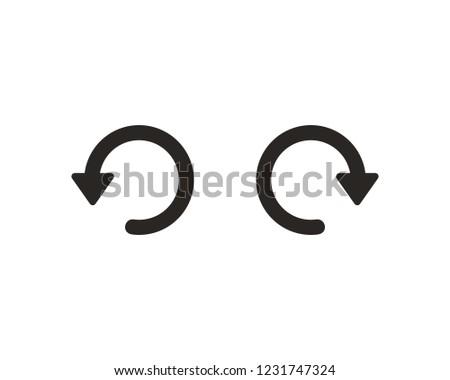 Undo redo icon sign symbol