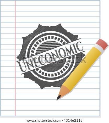 Uneconomic draw with pencil effect