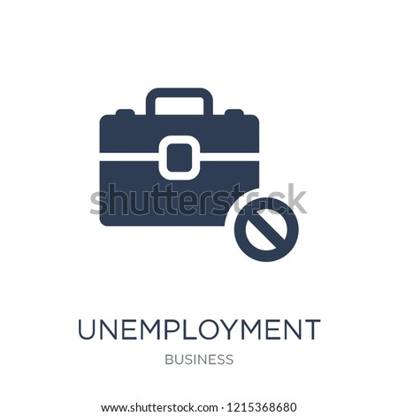 Unemployment icon. Trendy flat vector Unemployment icon on white background from business collection, vector illustration can be use for web and mobile, eps10