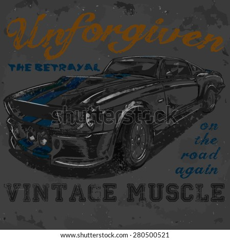 unforgiven vintage muscle car