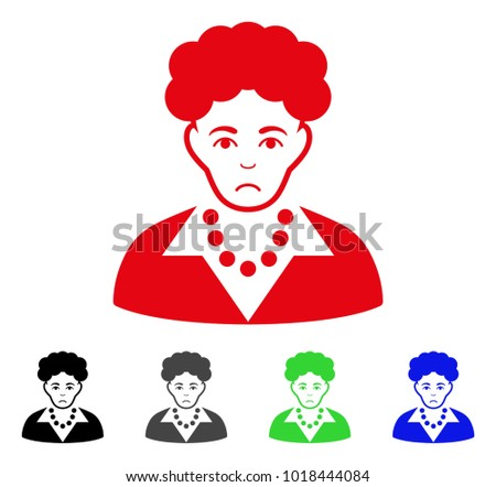 unhappy brunette woman vector