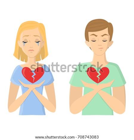 unhappy love concept man and
