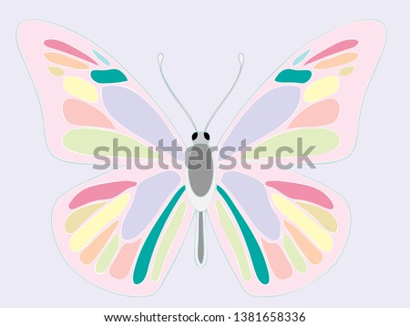 unicorn color theme butterfly