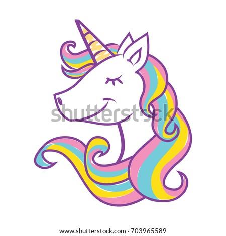 unicorn head vector