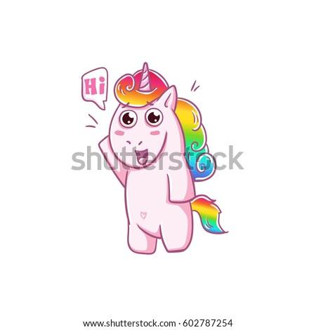 unicorn hello hi love the
