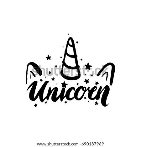 unicorn horn fairy lettering object
