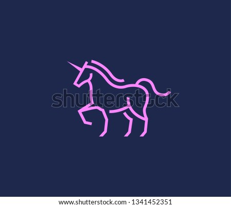 Linear illustration of a unicorn - Download Free Vectors