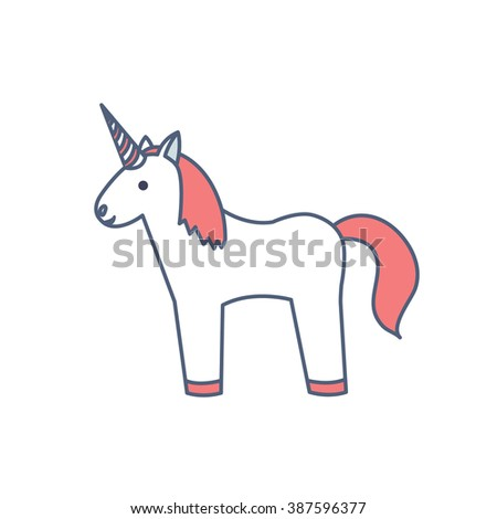 unicorn icon vector