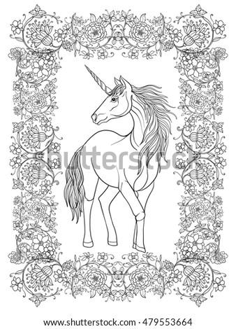 unicorn in decorative frame