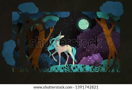 unicorn in front of magic