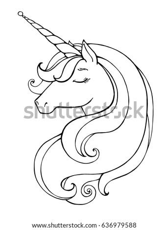unicorn magical animal vector