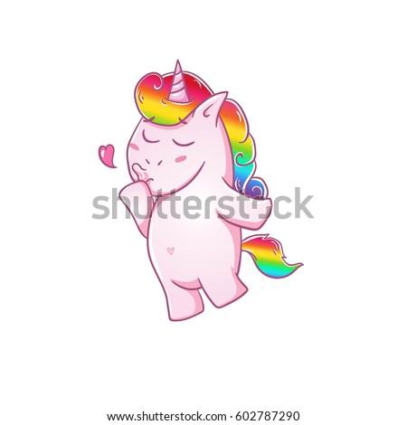 unicorn sends a kisslove the