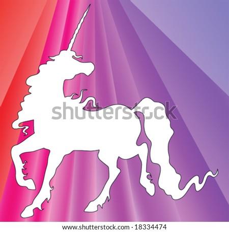 unicorn silhouette on