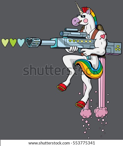 unicorn soldier character