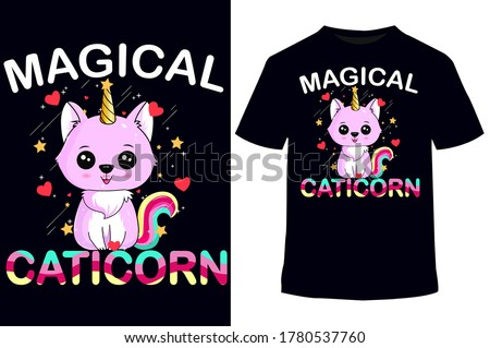 unicorn t shirt,t shirt design,Unicorn cute pattern vector graphic illustration-card and shirt design, cat-vector t-shirts design template.Cat T-Shirt.Print for posters, tees,women's shirts, cat lover