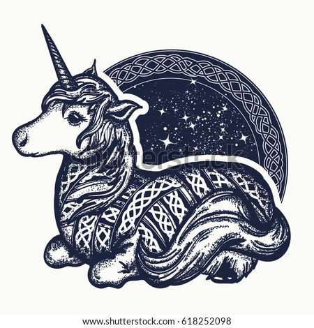 unicorn tattoo art symbol of