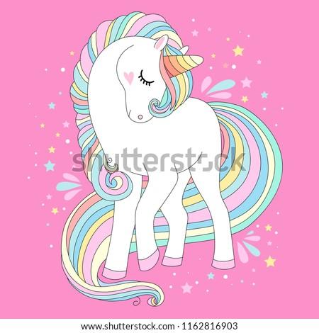 unicorn vector cute character