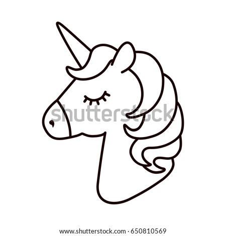unicorn vector horse head