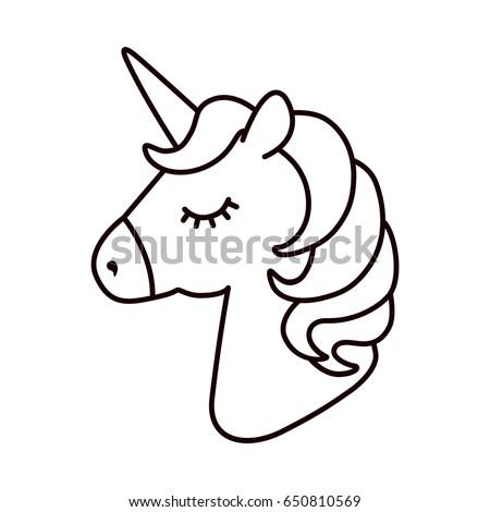 unicorn vector horse head