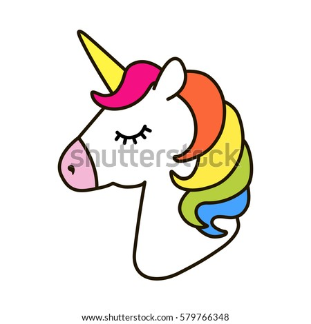 unicorn vector icon isolated on