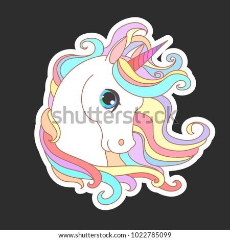 unicorn vector illustration for