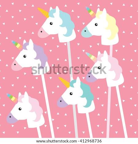 unicorns on pink triangle