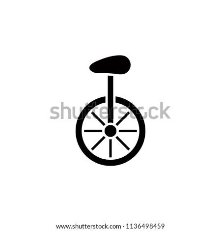 unicycle glyph style icon....