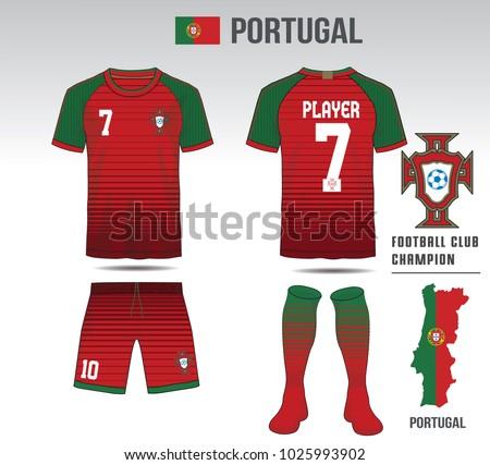 uniform football design red